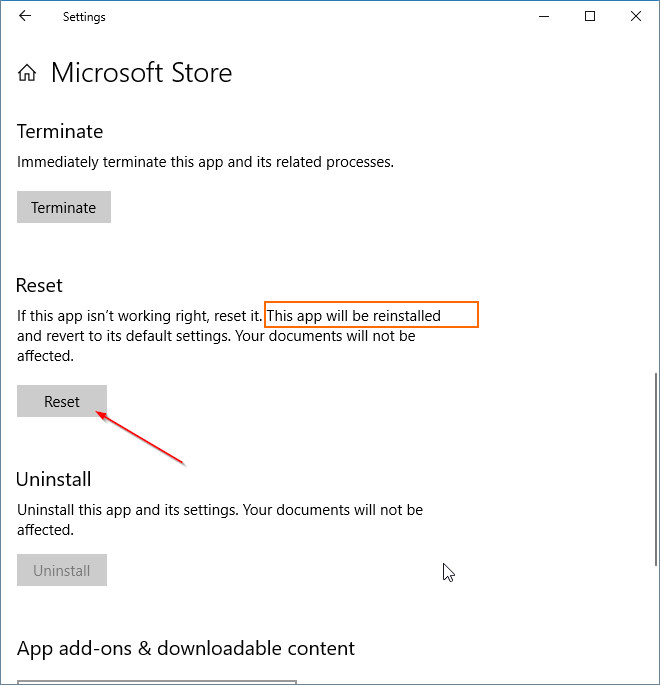 reinstala la aplicación Store en windows 10