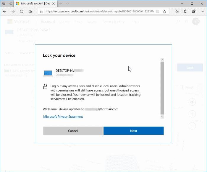 cerrar sesión y bloquear remotamente Windows 10 PC pic6