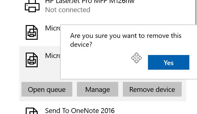quitar Microsoft XPS Document Writer de Windows 10 pic3