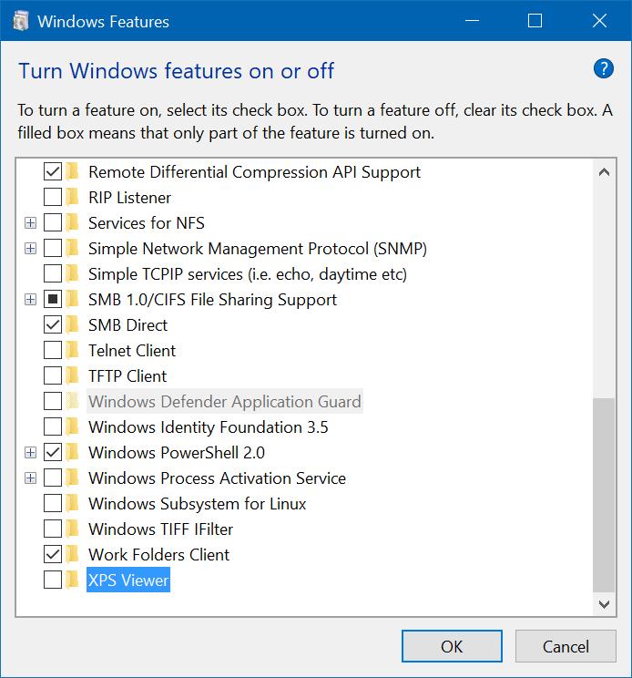 quitar Microsoft XPS Document Writer de Windows 10 pic7