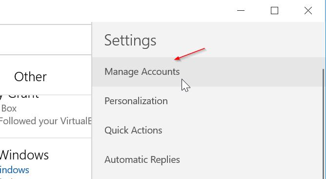 eliminar una cuenta de correo electrónico de Mail app en Windows 10 pic6