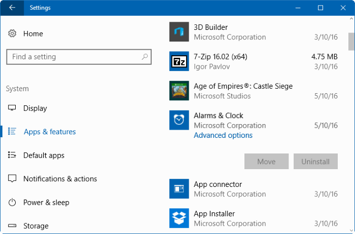 eliminar aplicaciones integradas en Windows 10 pic1