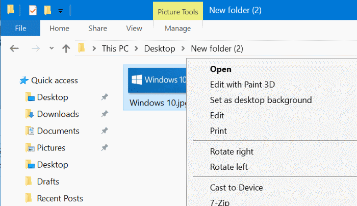 remove edit with photos from windows 10 context menu pic7
