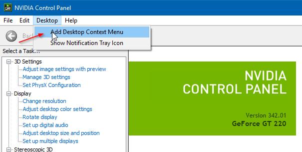 remove nvidia control panel from desktop right click menu in Windows 10 pic2