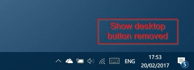 remove show desktop button from windows 10 taskbar pic2