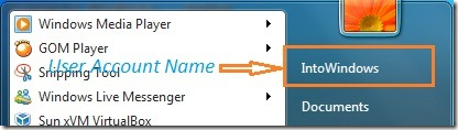 How To Remove User Account Name From Start Menu In Windows 7 pic1