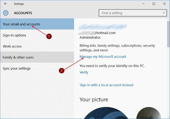 renombrar Microsoft o cuenta local en Windows 10 step3