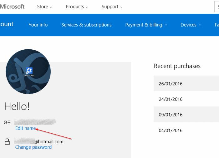 renombrar Microsoft o cuenta local en Windows 10 step4