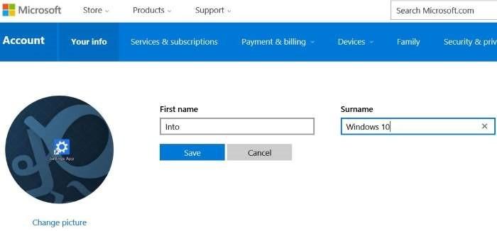 renombrar Microsoft o cuenta local en Windows 10 step5