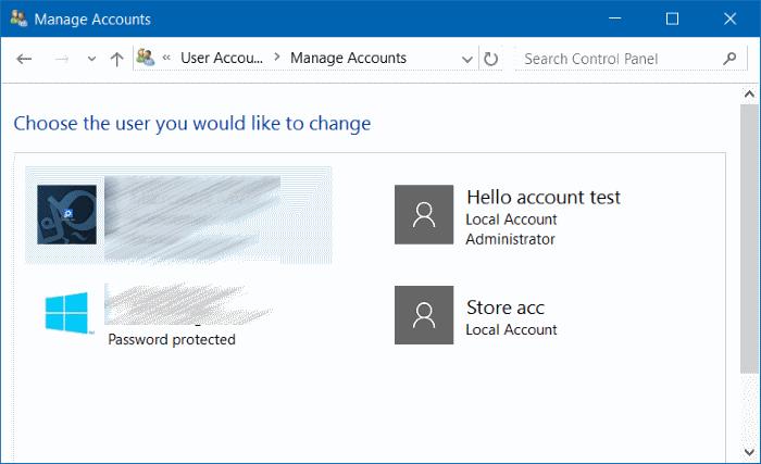 renombrar Microsoft o cuenta local en Windows 10 step9