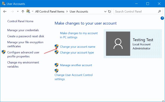 renombrar cuentas de usuario en Windows 10 pic7