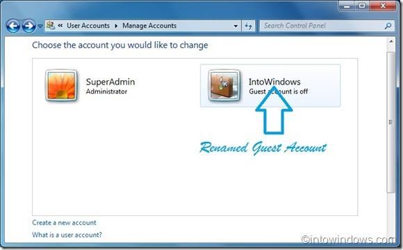 renombrar cuenta huésped en windows 7