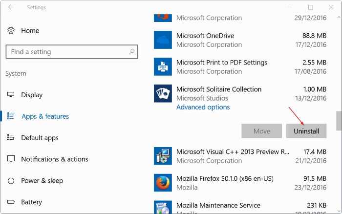 reparar Windows 10 apps pic4