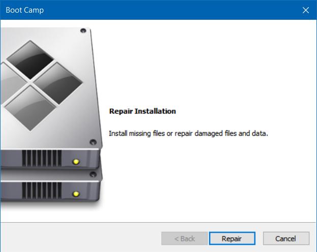 reparar y actualizar controladores boot camp en Windows 10 (1)