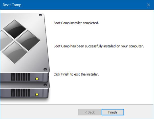 reparar y actualizar controladores boot camp en Windows 10 (4)