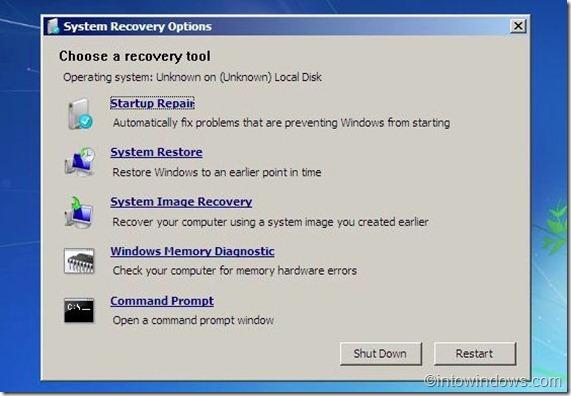 reparar windows 7 from usb flash drive