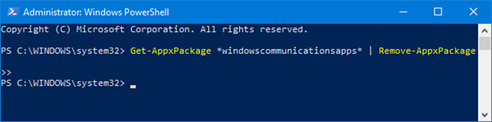 reset and reinstall Calendar app in Windows 10 pic1