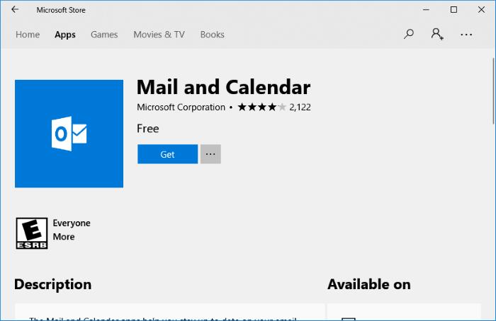 reset and reinstall Calendar app in Windows 10 pic2