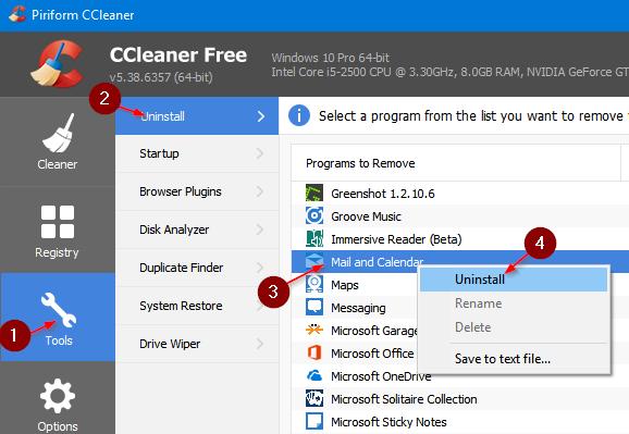 reset and reinstall Calendar app in Windows 10 pic5