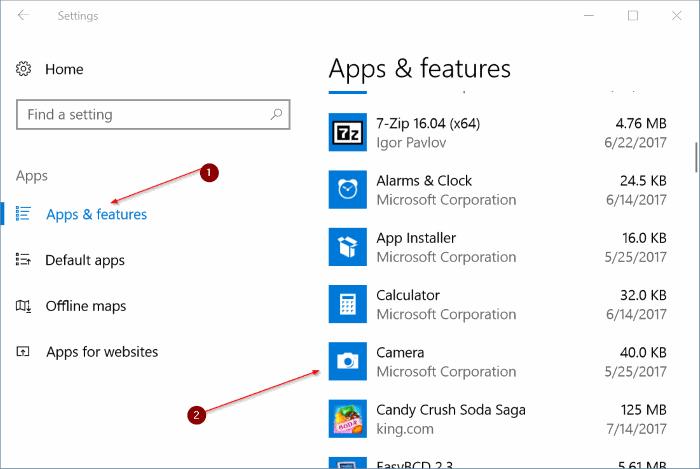reiniciar y reinstalar la cámara en Windows 10 pic1