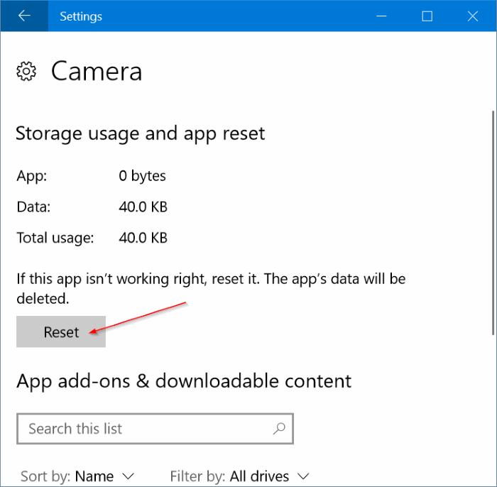 reiniciar y reinstalar la cámara en Windows 10 pic3