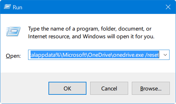 reset onedrive in windows 10 pic1