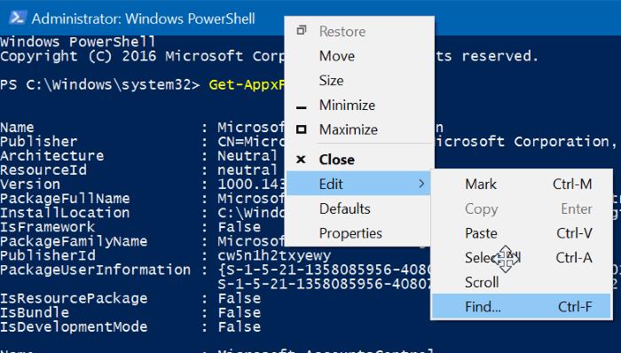 reiniciar o reinstalar Calculadora en Windows 10 step3
