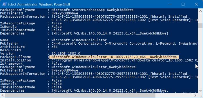 reiniciar o reinstalar Calculadora en Windows 10 step5