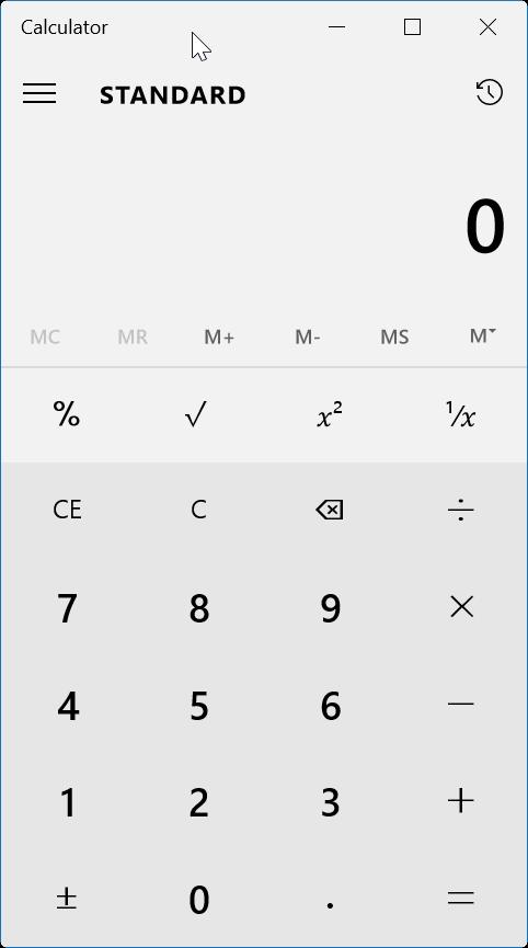 reiniciar o reinstalar Calculadora en Windows 10
