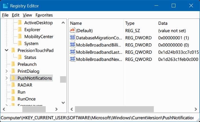 restablecer el registro de Windows en Windows 10