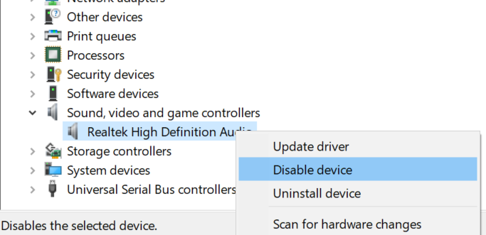 reiniciar controlador de audio en Windows 10 pic2