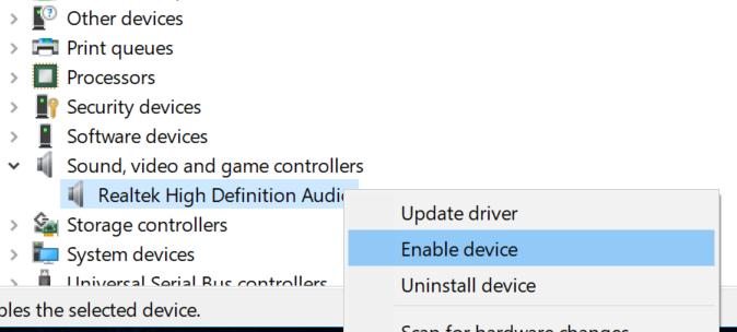reiniciar controlador de audio en Windows 10 pic5
