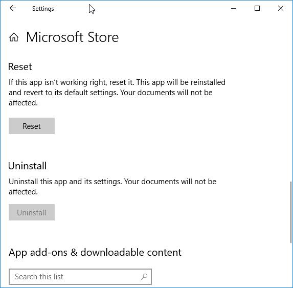 restore missing Store app in Windows 10 pic4