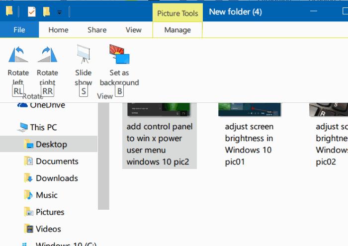 rotar imágenes en el explorador de archivos de Windows 10 pic2