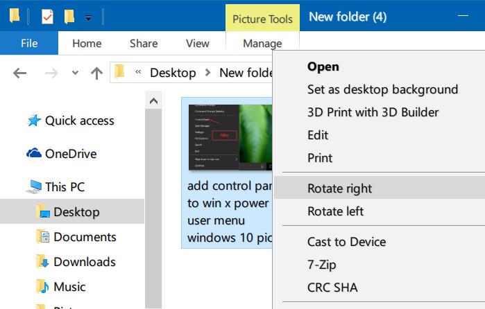 rotar imágenes en el explorador de archivos de Windows 10 pic3