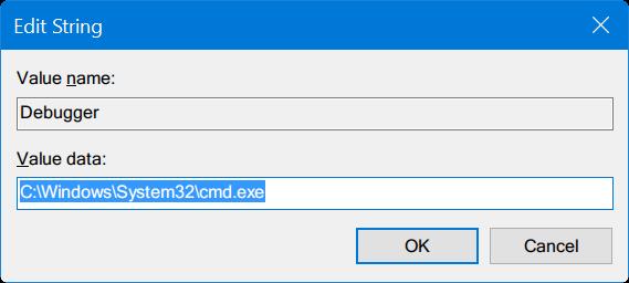 ejecutar cualquier programa desde la pantalla de inicio de sesión de Windows 10 pic5