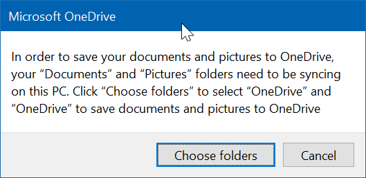 guardar carpetas de escritorio, documentos e imágenes en OneDrive en Windows 10 pic3