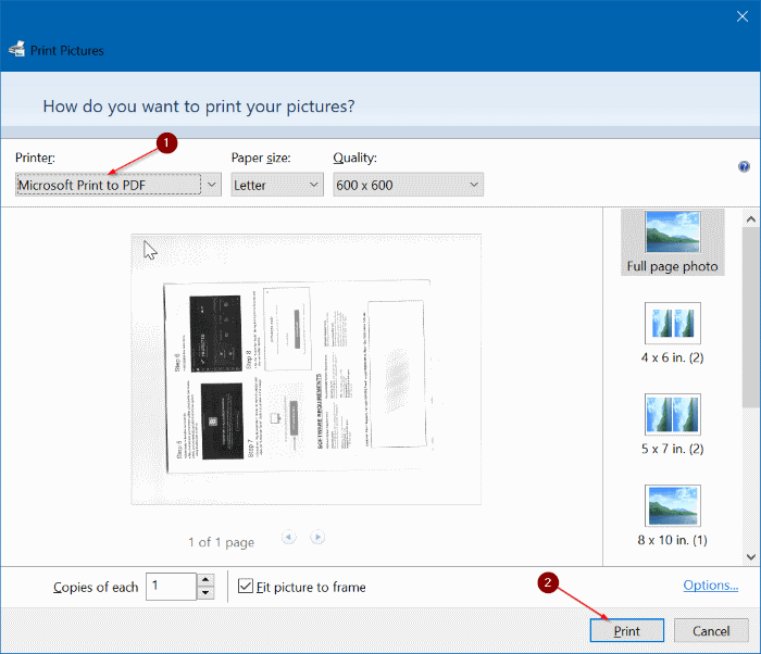 guardar documentos escaneados e imágenes como PDF en Windows 10 pic04