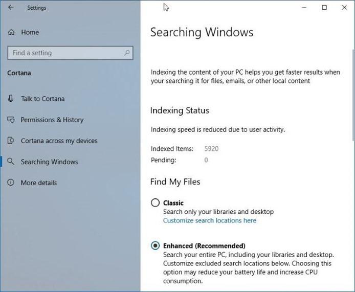 busque un archivo en todo el equipo con Windows 10 pic4