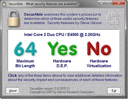 check if your PC supports Windows 7 XP mode
