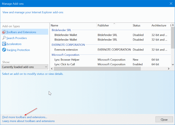 establecer Google como motor de búsqueda predeterminado en Internet Explorer en Windows 10 pic2