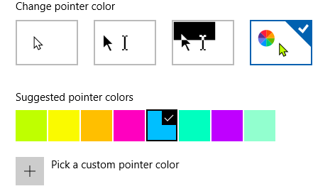 set custom color for mouse pointer in windows 10 pic2p