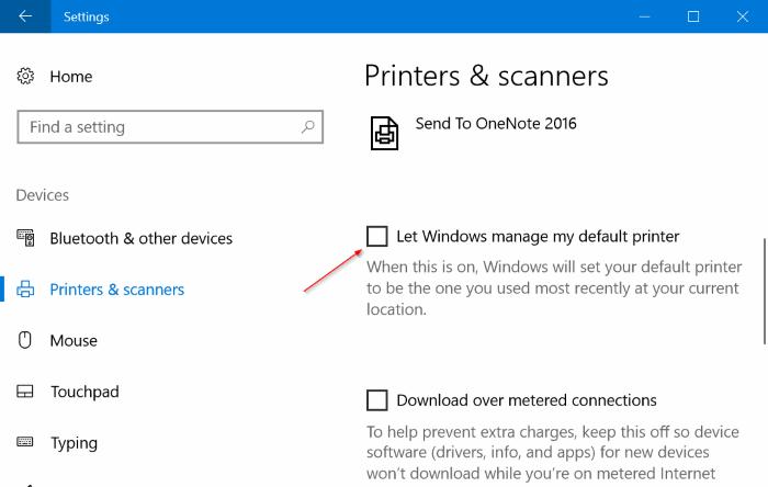 set default printer in windows 10 pic1
