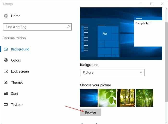 set different wallpapers for multiple monitors in Windows 10 step3