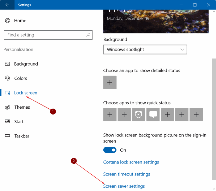 set photos as screen saver in Windows 10 pic1