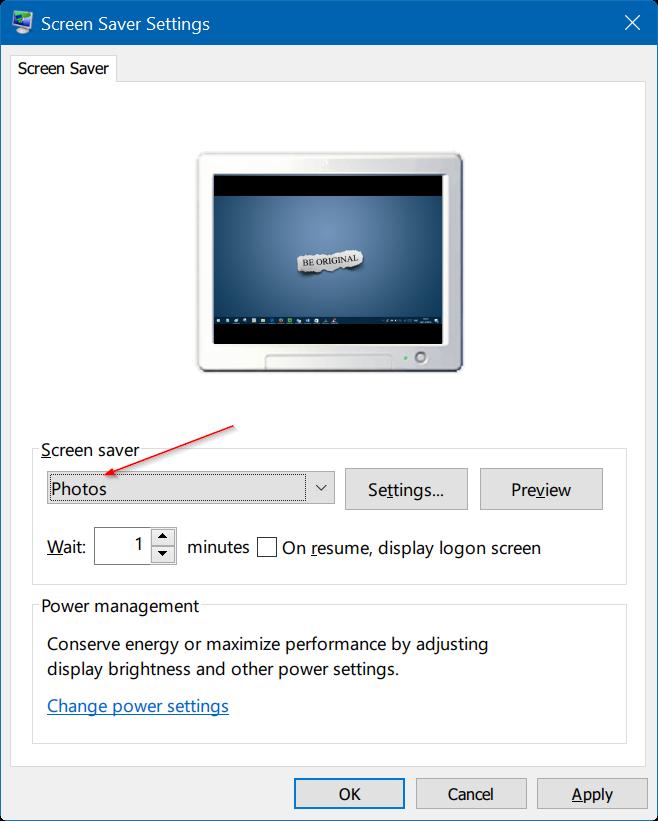 set photos as screen saver in Windows 10 pic2