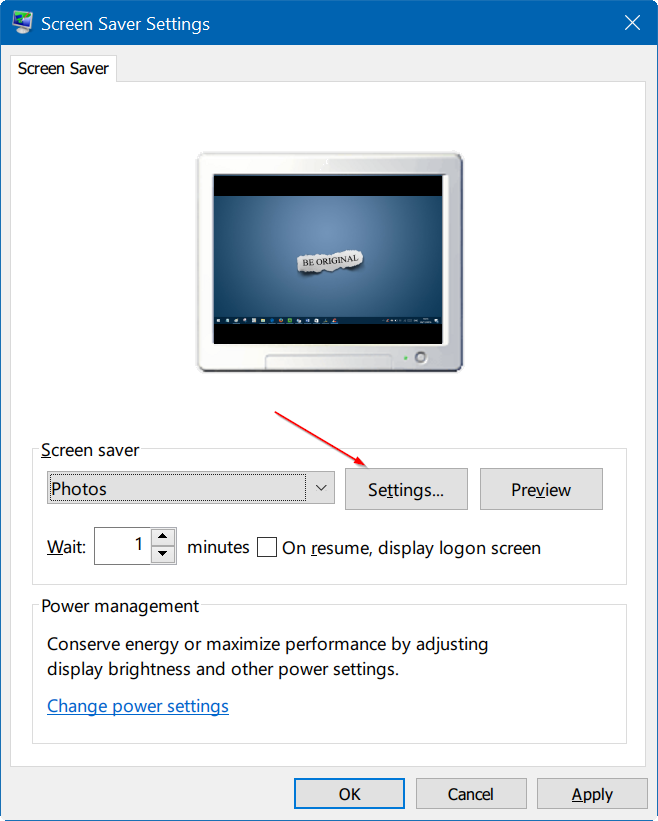set photos as screen saver in Windows 10 pic3