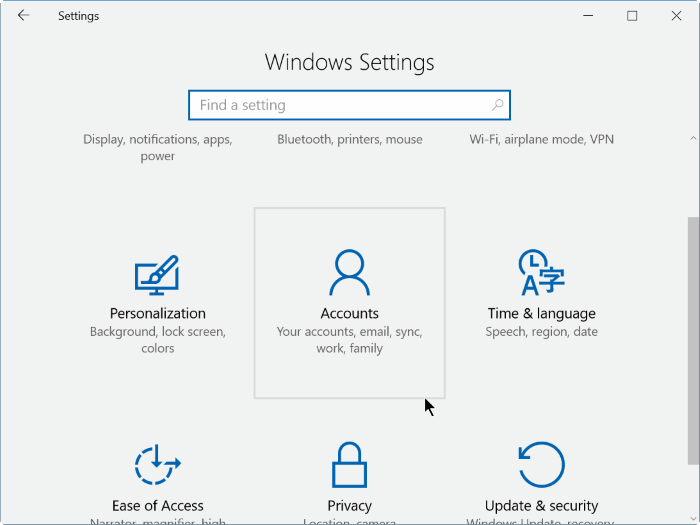 show hide hide email address on Windows 10 login screen step2