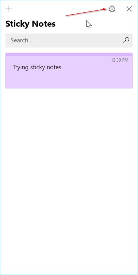 sign in or out of sticky notes in windows 10 pic6