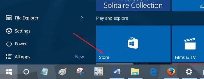 cerrar sesión en la aplicación Windows Store en Windows 10 step1